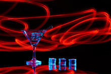 Neon Martini Glass Shot With L...