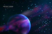 Deep Space,Galaxy, Abstract Background For Your Graphic Design.Vector Illustration