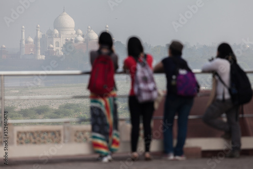 People Looking At Temple