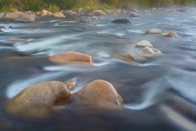 Flowing River Over Rocks Long ...
