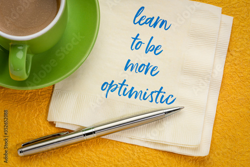 learn to be more optimistic inspirational message Wallpaper Mural