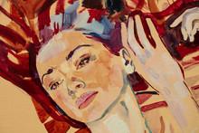 Oil Painting, Female Portrait,...