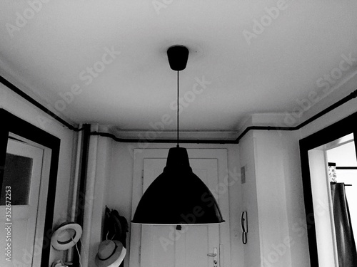 Pedant Light Hanging From Ceiling At Home Tablou Canvas