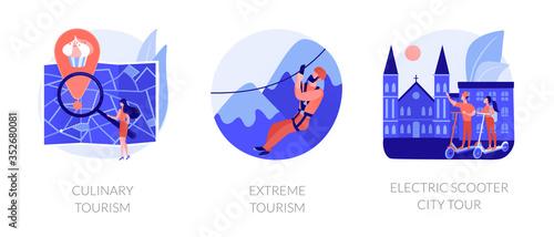 Fototapeta Adventure touristic activities, recreation, broadening horizons