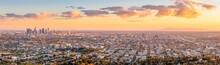 Los Angeles Skyline During Sun...