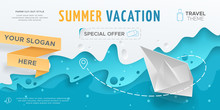 Horizontal Travel Banner With ...
