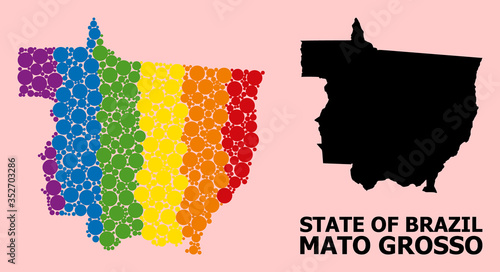 Fotografija Spectrum Collage Map of Mato Grosso State for LGBT