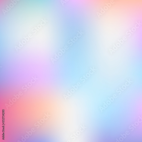 Fotografia, Obraz Colorful mesh gredient abstract background.