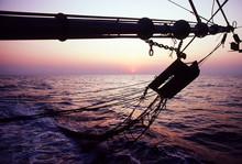 Prawn Trawler At Sea On The Fishing Grounds In The Timor Sea