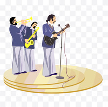 Musicians On Stage Illustration