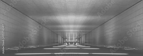 Fotografia, Obraz Empty Corridor Of Building
