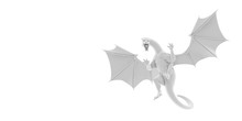 3D Illustration - Dragon Attac...