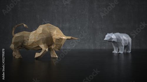Obraz The bull and the bear - fototapety do salonu