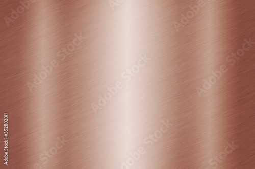Background or brushed metal copper surface Canvas Print