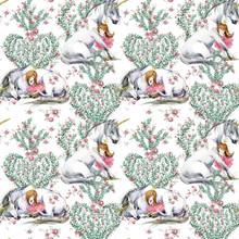 White Unicorn And Princess Wat...