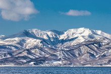 Hokkaido Island Coastline With...