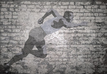 Grunge Decayed Faded Brick Wal...