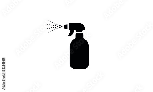Leinwand Poster Spray bottle vector icon,clean spray bottle