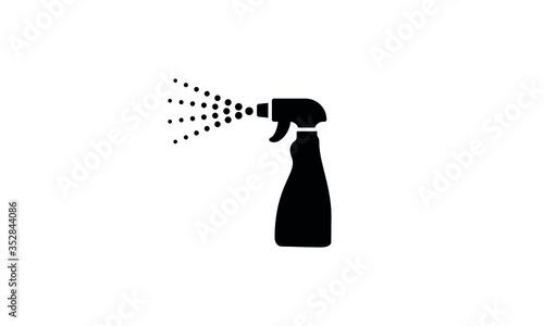 Obraz na plátně Spray bottle vector icon,clean spray bottle