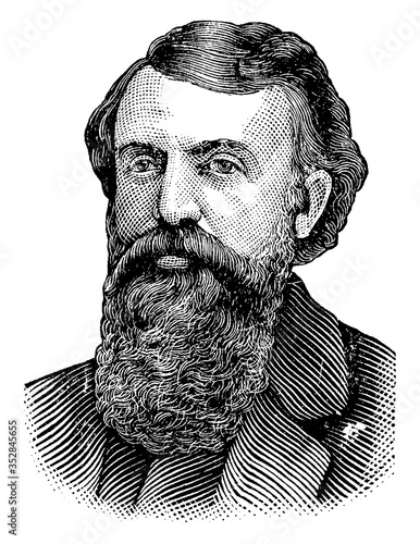 Cuadros en Lienzo Dwight L. Moody, vintage illustration