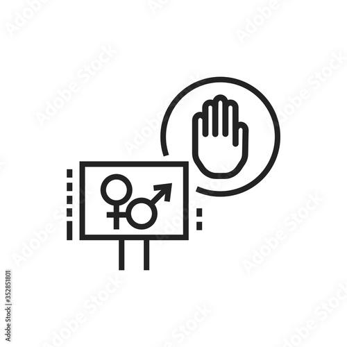 Sex strike line black icon Wallpaper Mural