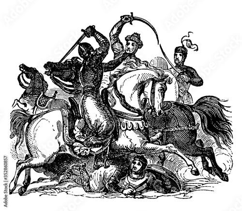 Moors, vintage illustration. Slika na platnu