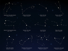 Star Sky With The Constellatio...