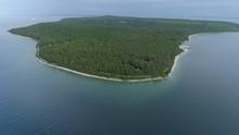 Aerial Of Mackinac Island Mich...