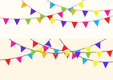 Colorful Bunting And Garland. ...