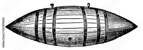 Photo Percussion Torpedo, vintage illustration.
