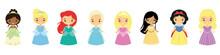 Set Of Princesses In Beautiful...