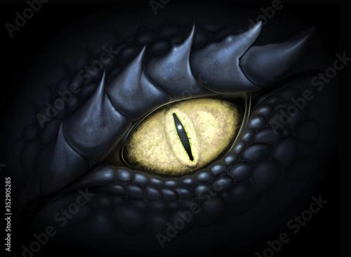 Eye of dragon Fotobehang