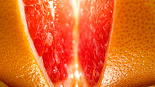 Macro Photo Of Orange Skin And...
