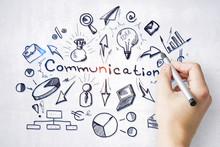 Hand Drawing Comunication Plan