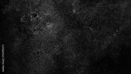 Fototapety, obrazy: black concrete wall background, old cement stone texture