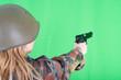 Leinwandbild Motiv soldier girl
