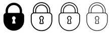 Lock Icon Set.Illustration Vec...