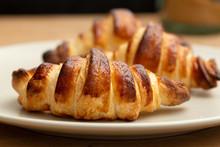 Three Freshly-baked Croissants...