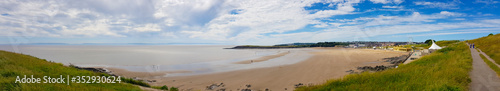 Papel de parede Barry Island beach and town, Wales, United Kingdom
