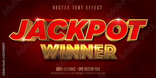 Jackpot prize style, editable text effect Canvas-taulu