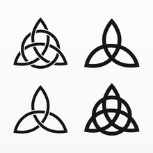 Variety Of Celtic Triquetra Set