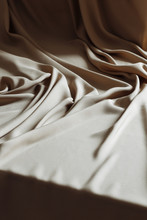 Silk Beige Fabric, Can Be Used...