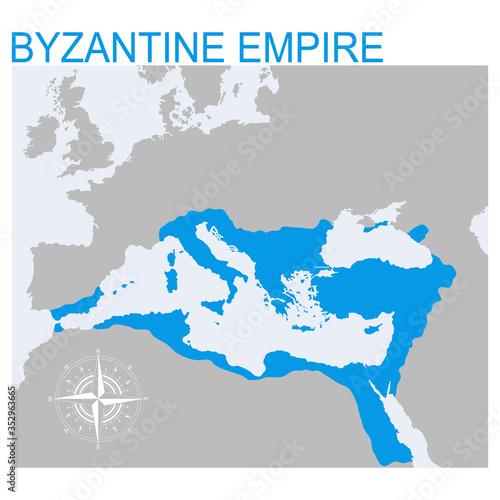 Obraz na plátně vector map of the Byzantine Empire for your design