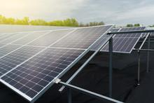 Sun Solar Panels On The Ground...