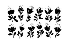 Spring Flowers Hand Drawn Vect...