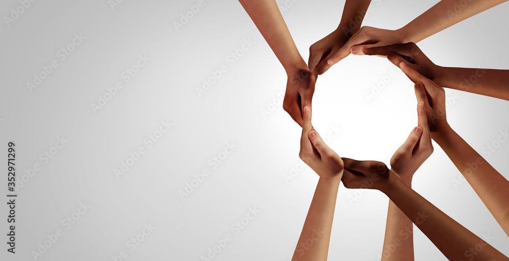 Fototapeta Business Unity And Diversity