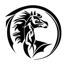 Horse, Hand Drawn Vector Styli...