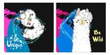 Hand drawn lama illustration. Childish print for t-shirt, baby shower, card. Vector