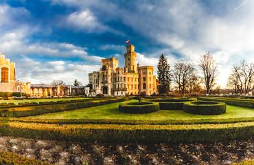 Castle of Hluboká nad Vltavou in South Bohemia of Czech republic, Europe