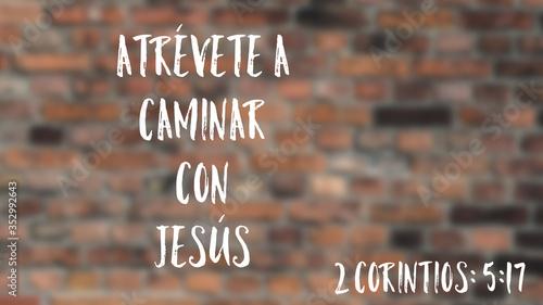 Ilustración sobre el caminar con Jesús Canvas Print